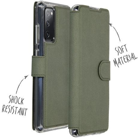 Accezz Xtreme Wallet Booktype Samsung Galaxy S20 FE - Lichtgroen (D)