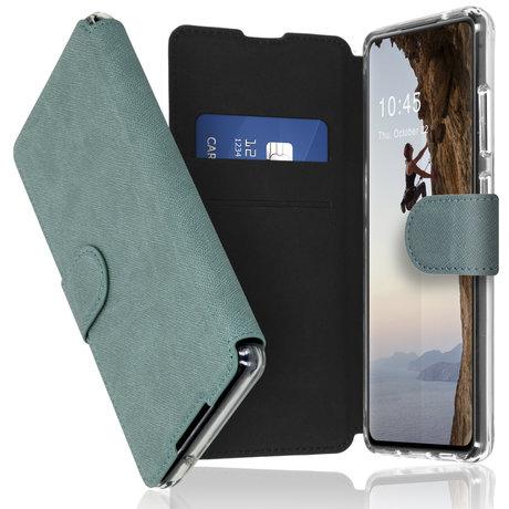 Accezz Xtreme Wallet Booktype Samsung Galaxy S21 - Lichtblauw (D)