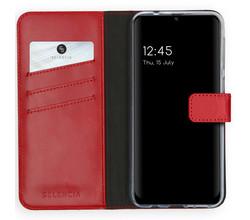 Selencia Selencia Echt Lederen Booktype Samsung Galaxy M31 - Rood (D)