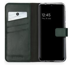 Selencia Selencia Echt Lederen Booktype Samsung Galaxy M31 - Groen (D)