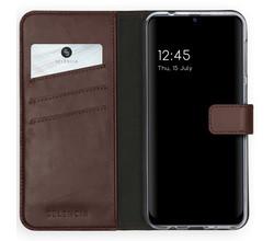 Selencia Selencia Echt Lederen Booktype Samsung Galaxy M31 - Bruin (D)