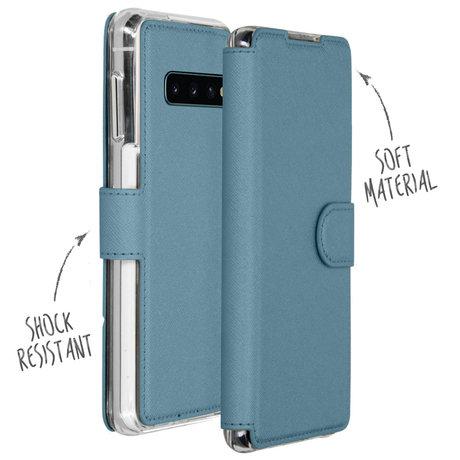 Accezz Xtreme Wallet Booktype Samsung Galaxy S10 - Lichtblauw (D)