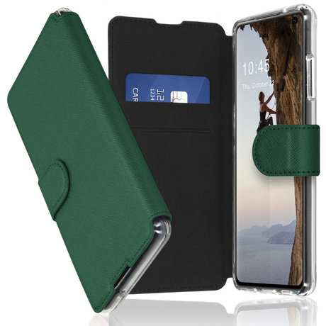 Accezz Xtreme Wallet Booktype Samsung Galaxy S10 - Donkergroen (D)