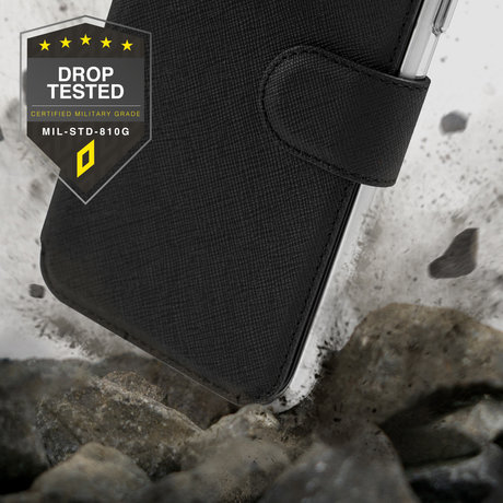 Accezz Xtreme Wallet Booktype Samsung Galaxy S21 Ultra - Zwart (D)