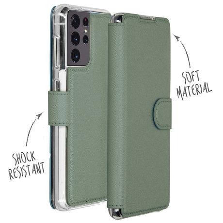 Accezz Xtreme Wallet Booktype Galaxy S21 Ultra - Lichtgroen (D)