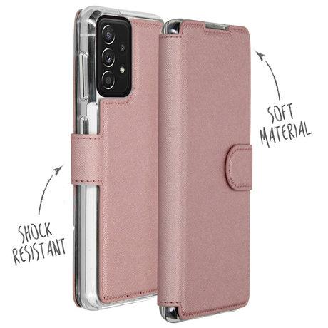 Accezz Xtreme Wallet Booktype Samsung Galaxy A72 - Rosé Goud (D)