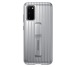 Samsung Samsung Protective Standing Backcover Galaxy S20 - Zilver (D)
