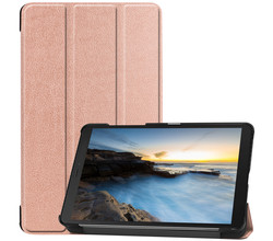iMoshion iMoshion Trifold Bookcase Galaxy Tab A 8.0 (2019) - Rosé Goud (D)