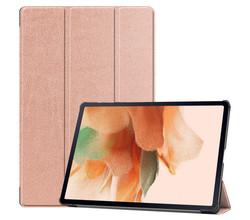iMoshion iMoshion Trifold Bookcase Samsung Galaxy Tab S7 Lite - Rosé Goud (D)