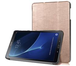 iMoshion iMoshion Trifold Bookcase Galaxy Tab A 10.1 (2016) - Rosé Goud (D)