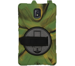 TPL Extreme Backcover met strap Galaxy Tab Active 3 - Camo Groen (D)