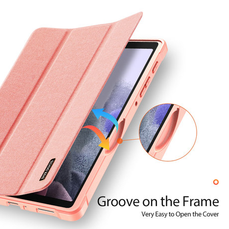 Dux Ducis Domo Bookcase Samsung Galaxy Tab A7 Lite - Rosé Goud (D)