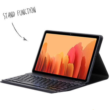 Accezz QWERTZ Bluetooth Keyboard Bookcase Samsung Galaxy Tab A7 (D)