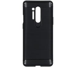 TPL Brushed Backcover OnePlus 8 Pro - Zwart (D)
