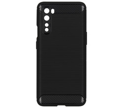 TPL Brushed Backcover OnePlus Nord - Zwart (D)