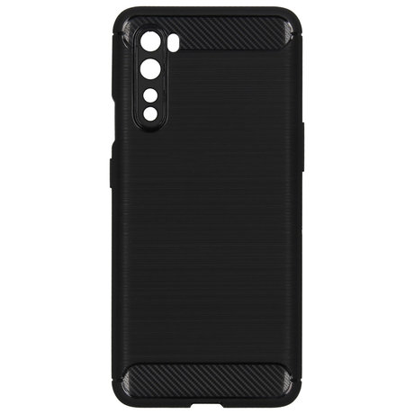Brushed Backcover OnePlus Nord - Zwart (D)
