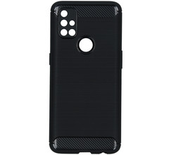 TPL Brushed Backcover OnePlus Nord N10 5G - Zwart (D)