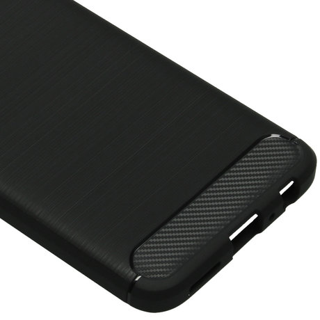 Brushed Backcover OnePlus Nord N10 5G - Zwart (D)