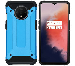 iMoshion iMoshion Rugged Xtreme Backcover OnePlus 7T - Lichtblauw (D)