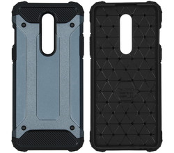 iMoshion iMoshion Rugged Xtreme Backcover OnePlus 8 - Donkerblauw (D)