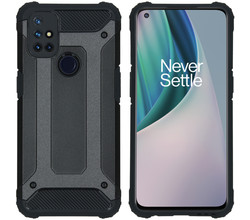 iMoshion iMoshion Rugged Xtreme Backcover OnePlus Nord N10 5G - Zwart (D)