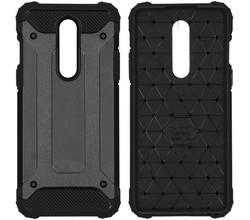 iMoshion iMoshion Rugged Xtreme Backcover OnePlus 8 - Zwart (D)