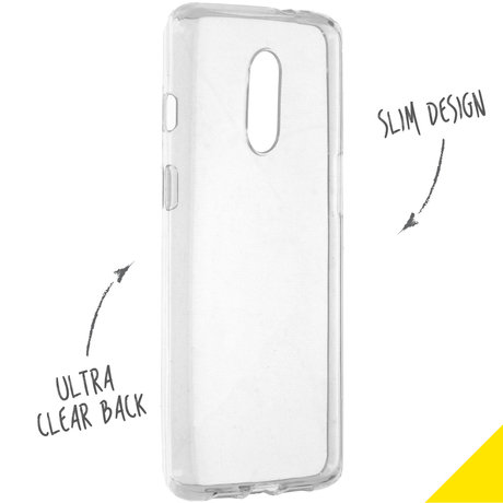 Accezz Clear Backcover OnePlus 7 - Transparant (D)