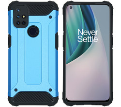iMoshion iMoshion Rugged Xtreme Backcover OnePlus Nord N10 5G - Lichtblauw (D)