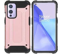 iMoshion iMoshion Rugged Xtreme Backcover OnePlus 9 - Rosé Goud (D)