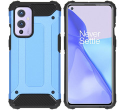 iMoshion iMoshion Rugged Xtreme Backcover OnePlus 9 - Lichtblauw (D)