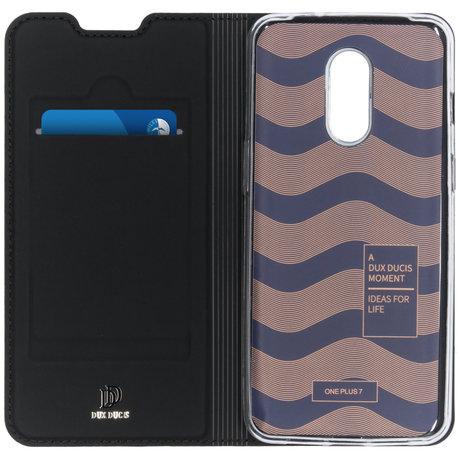 Dux Ducis Slim Softcase Booktype OnePlus 7 - Zwart (D)