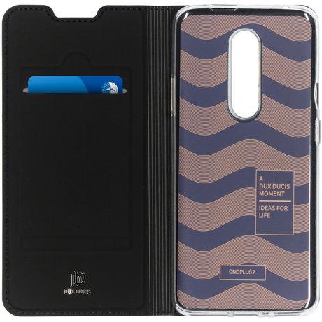 Dux Ducis Slim Softcase Booktype OnePlus 7 Pro - Zwart (D)