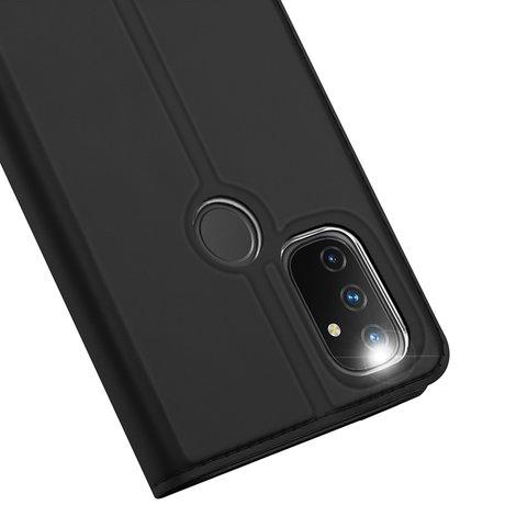 Dux Ducis Slim Softcase Booktype OnePlus Nord N100 - Zwart (D)