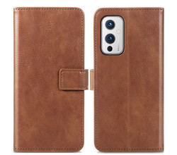 iMoshion iMoshion Luxe Booktype OnePlus 9 - Bruin (D)