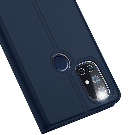 Dux Ducis Slim Softcase Booktype OnePlus Nord N10 5G - Donkerblauw (D)