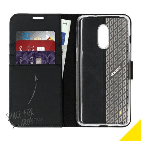 Accezz Wallet Softcase Booktype OnePlus 7 - Zwart (D)