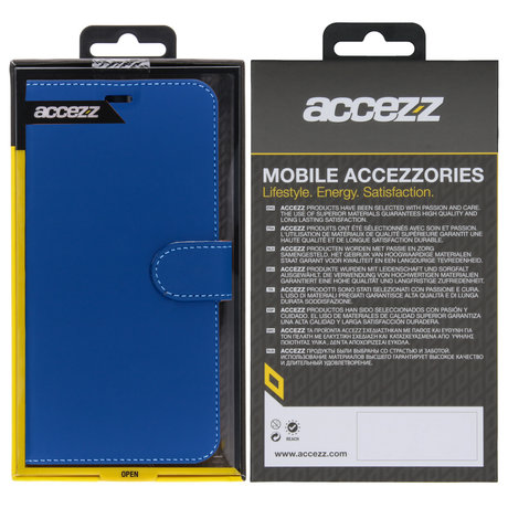 Accezz Wallet Softcase Booktype OnePlus 7 - Donkerblauw (D)