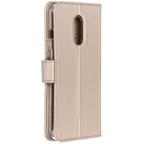 Accezz Wallet Softcase Booktype OnePlus 7 - Goud (D)