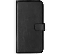 Selencia Selencia Echt Lederen Booktype OnePlus 7 - Zwart (D)