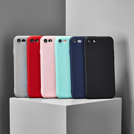 Color Backcover iPhone 11 Pro Max - Zwart (D)