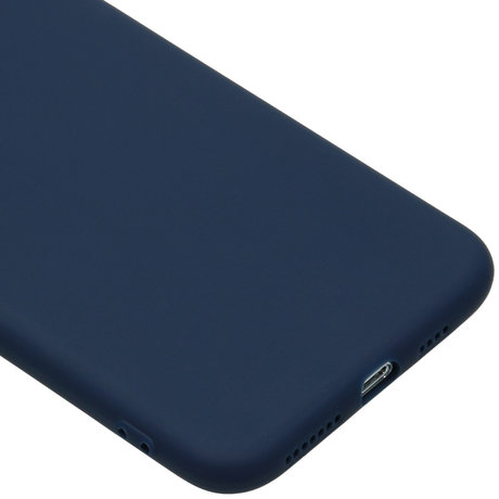 Color Backcover iPhone 11 Pro Max - Donkerblauw (D)
