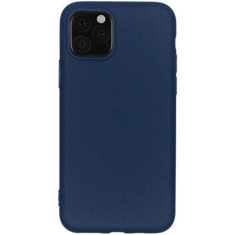 Color Backcover iPhone 11 Pro - Donkerblauw (D)