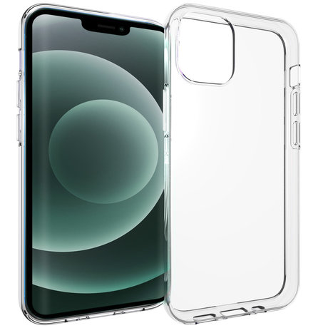 Accezz Clear Backcover iPhone 13 Mini - Transparant (D)