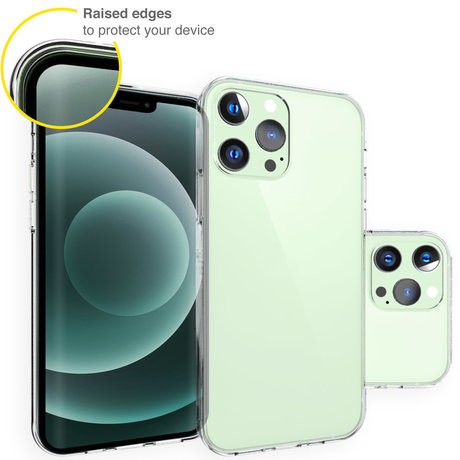 Accezz Clear Backcover iPhone 13 Pro - Transparant (D)