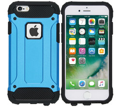 iMoshion iMoshion Rugged Xtreme Backcover iPhone 6 / 6s - Lichtblauw (D)