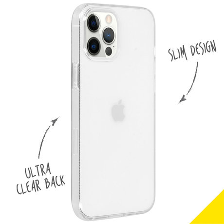Accezz Clear Backcover iPhone 12 (Pro) - Transparant (D)