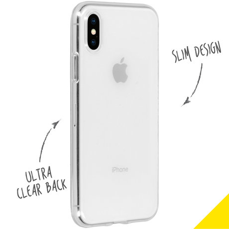 Accezz Clear Backcover iPhone Xs / X - Transparant (D)