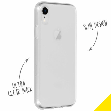 Accezz Clear Backcover iPhone Xr - Transparant (D)