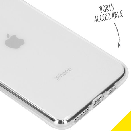 Accezz Clear Backcover iPhone 11 Pro Max - Transparant (D)