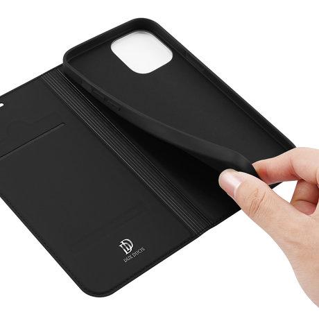Dux Ducis Slim Softcase Booktype iPhone 12 (Pro) - Zwart (D)